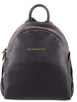 Trussardi Women's Black Polyurethane Backpack.