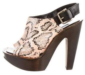 Derek Lam Snakeskin Platform Sandals