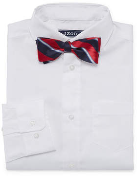 Izod Stretch Boys Shirt + Tie Set 8-20 - Reg