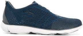 Geox perforated lace-up sneakers