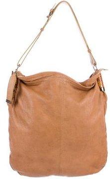 Etro Snakeskin-Trimmed Shoulder Bag