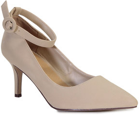 Bamboo Nude Ankle-Strap Prevail Pump