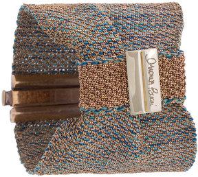 Carolina Bucci Melange woven bow bracelet