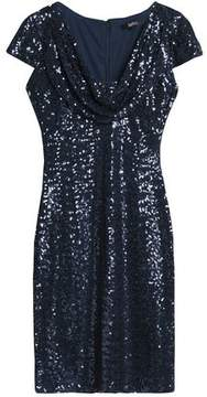 Badgley Mischka Sequined Mesh Dress