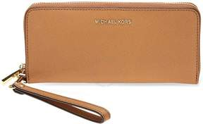 Michael Kors Jet Set Tavel Leather Continental Wallet - Acorn - ONE COLOR - STYLE