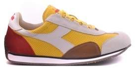 Diadora Heritage Men's Yellow Leather Sneakers.
