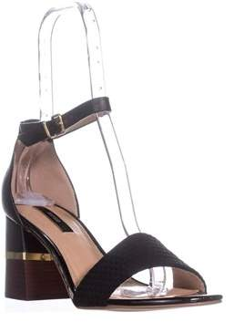 Kensie Estan Ankle Strap Block Heel Dress Sandals, Black.