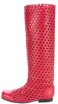 Comme des Garcons Perforated Leather Boots