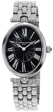 Frederique Constant Ladies' Classics Art Deco Stainless Steel Watch, Black