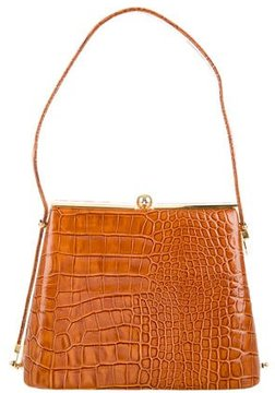 Carlos Falchi Embossed Frame Bag