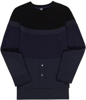 General Idea G7a05005 Block Sweat Shirt Black