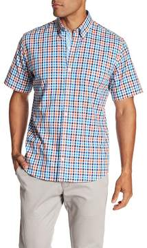 Tailorbyrd Regular Fit Short Sleeve Casual Plaid Shirt