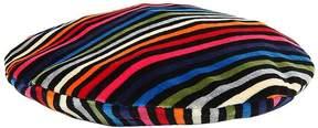 Sonia Rykiel Striped Cotton Chenille Beret