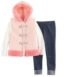 Little Lass Girls 4-6x Faux Fur Vest