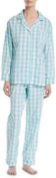 BedHead Gingham Long Classic Pajama Set, Plus Size