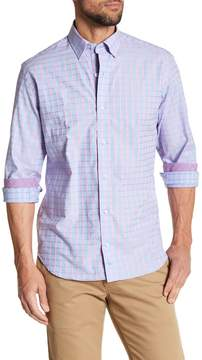 Tailorbyrd Long Sleeve Checkered Print Trim Fit Woven Shirt