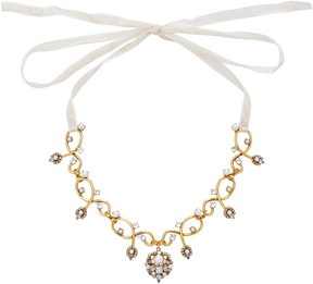 Erickson Beamon My One and Only Crystal and Pearl Necklace
