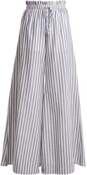 Caroline Constas Striped paperbag-waist trousers