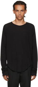 Haider Ackermann Black Long Sleeve Ribbed T-Shirt