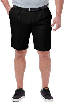 Haggar Cool 18 Pro Classic Fit Solid Pleated Shorts - Big and Tall