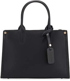 Neiman Marcus Smooth Leather Cutout Satchel Bag
