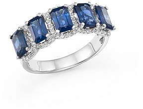Bloomingdale's Sapphire and Diamond Statement Ring in 14K White Gold - 100% Exclusive