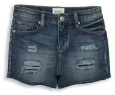 Hudson Girl's Shadow High-Waist Slim Shorts