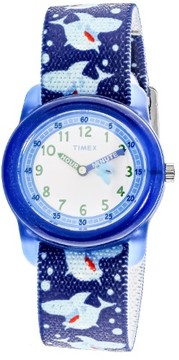 Timex Boy's TW7C13500 Blue Cloth Quartz Fashion Watch