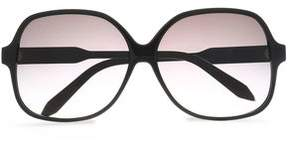 Victoria Beckham Square-Frame Acetate And Gold-Tone Sunglasses