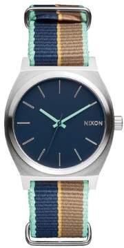 Nixon Time Teller A045-2079 Blue/Brown Analog Quartz Unisex Watch