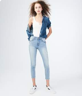 Aeropostale Seriously Stretchy High-Waisted Crop Jegging
