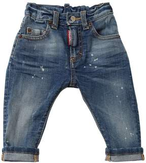 DSQUARED2 Washed Stretch Cotton Denim Jeans