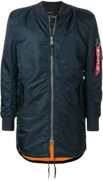 Alpha Industries longline bomber jacket