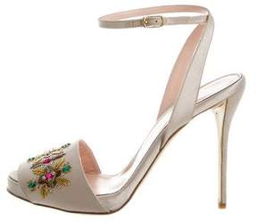 Oscar de la Renta Dalia Embellished Sandals