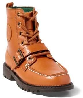 Ralph Lauren Leather Ranger Hi Ii Boot Tan Burnished Leather 10.5