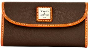 Dooney & Bourke Pebble Grain Continental Clutch Wallet - BROWN TMORO - STYLE