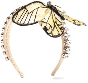 Dolce & Gabbana Crystal-embellished butterfly satin headband