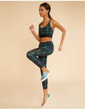 Cynthia Rowley | Plaid Sports Bra | L | Green