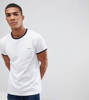 Jack Wills Ringer T-Shirt In Regular Fit In White Exclusive