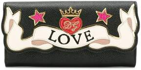 Dolce & Gabbana embroidered continental wallet