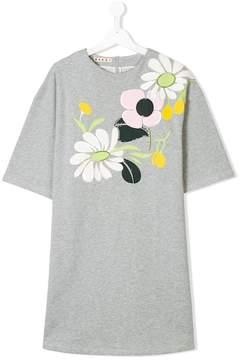 Marni floral appliqué T-shirt dress