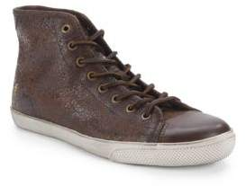 Frye Textured Leather High-Top Sneakers