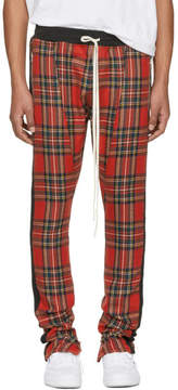 Fear Of God Red Tartan Plaid Drawstring Trousers