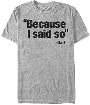 Fifth Sun Athletic Heather 'Because I Said So' Tee - Men