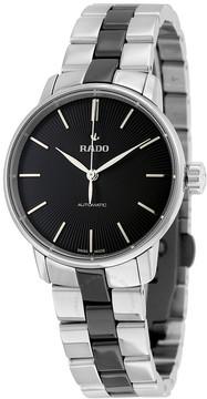 Rado Coupole Classic Automatic Black Dial Two-tone Bracelet Ladies Watch