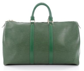 Louis Vuitton Pre-owned: Keepall Bag Epi Leather 45. - GREEN - STYLE