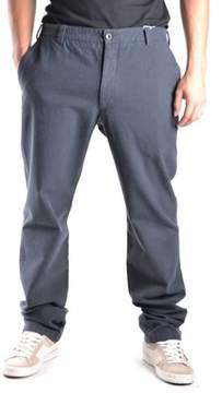 Armani Collezioni Men's Blue Cotton Pants.