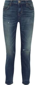 Current/Elliott The Selvedge Easy Stiletto Faded Mid-Rise Skinny Jeans