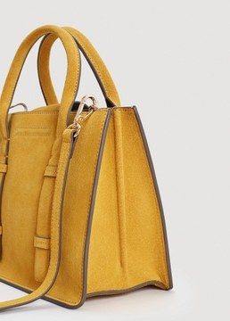 MANGO Double-strap leather bag