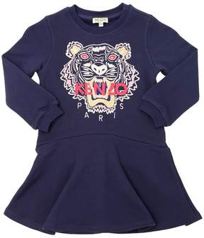 Kenzo Embroidered Tiger Cotton Dress